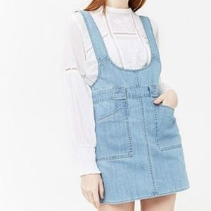 Forever 21 Denim Pinafore Dress